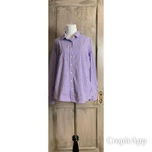 PurpleWhite Long Sleeve Shirt JCrew